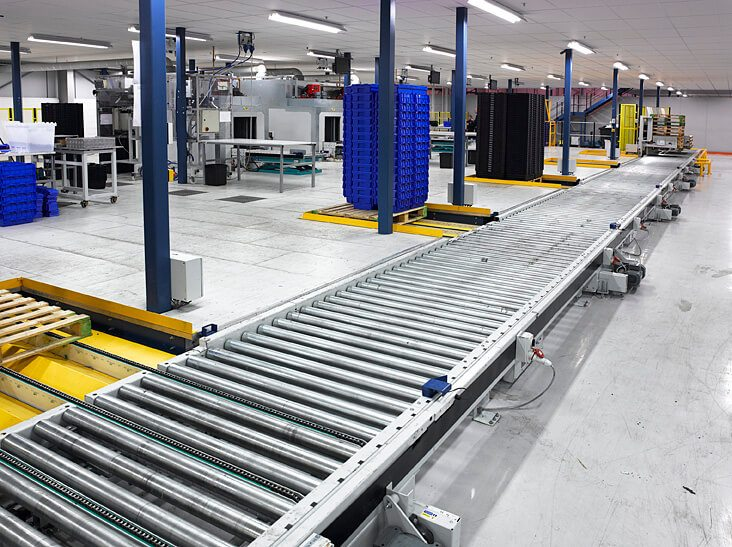 Food Industry Pallet Handling L A C Conveyors Amp Automation