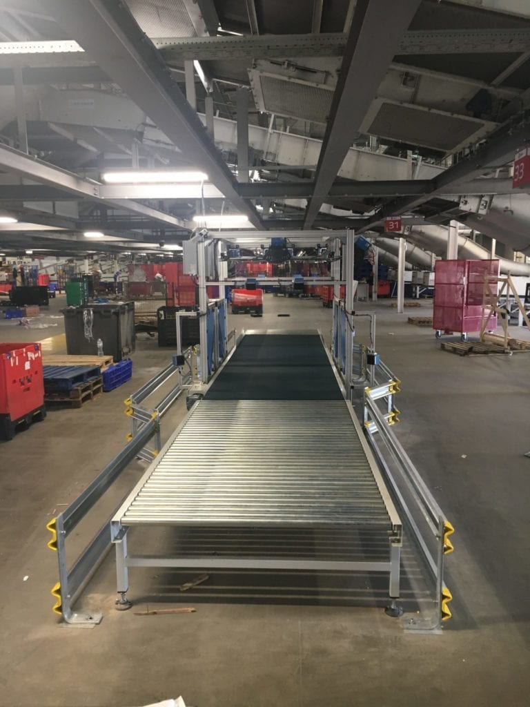 roller and belt conveyor